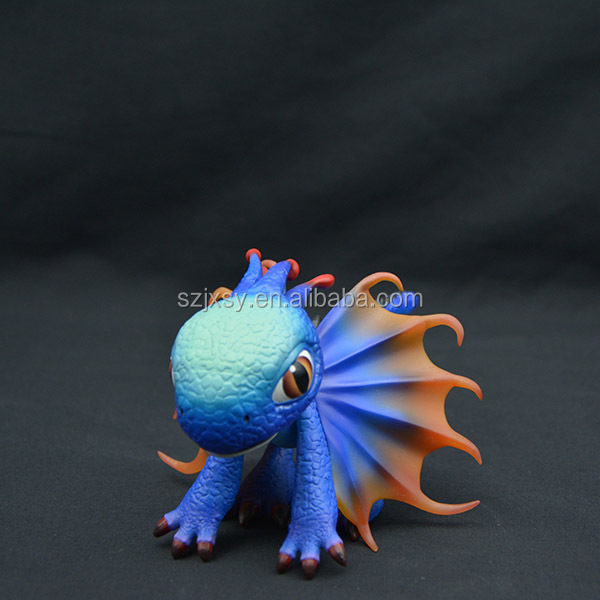 Baby cartoon blue small dragon figure