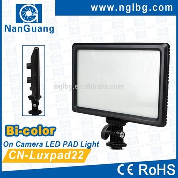 Nanguang,11W,CN-LUXPAD22 Bi-color portable and papery on camera Pad LED video LIGHT Ra 95