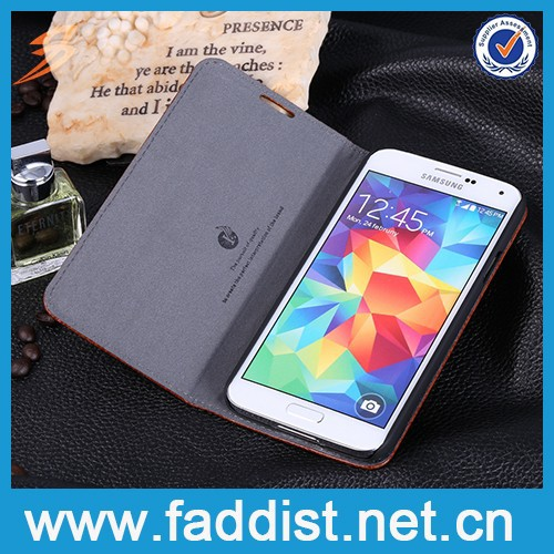 2015 New Arrival PU leather mobile phone case for sumsang galaxy s5