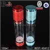 fancy color 50ml airless pump bottle essential oil cosmetic airless pump bottle with aluminum cap