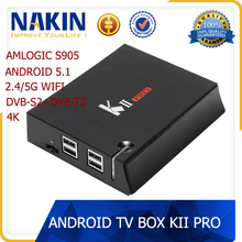 KII Pro amlogic s905 STB dvb-s2+t2 combo receiver android 5.1 Bluetooth 802.11AC wifi media player
