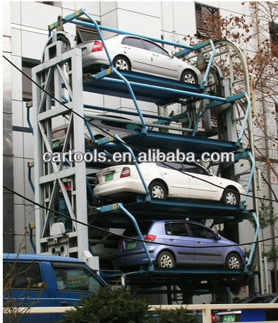 Automatic rotary car park storage