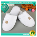 Coral Velvet Hotel Slippers / Luxury Coral Velour Durable Indoor Slippers / White Disposable 5 Stars Hotel Spa Slippers