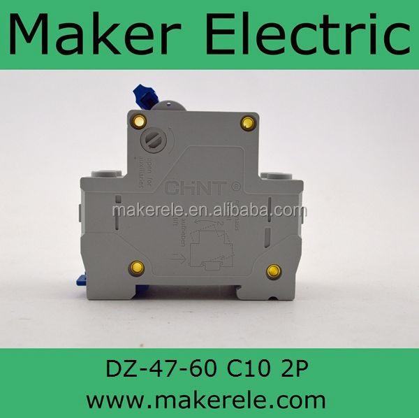 DZ47-60 2P C10 screw circuit breaker(fuse)