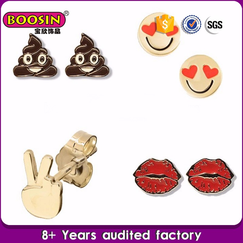 fashion artificial jewellery fancy ear studs