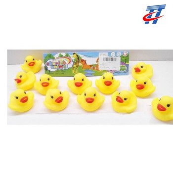 Baby vinyl yellow duck with squeak