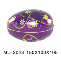 Christmas oval tin case with CMYK printing