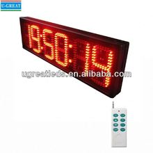 Led manufactures in china super bright sime-outdoor led large digital wall clock time display