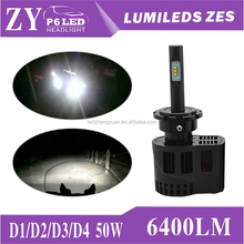 D3s led head lights conversion ZES LED Chip 25w 3200LM/pc P6 LED Headlight for car and motorcycle