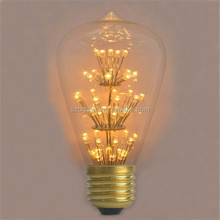 CE , RoHS Listed Clear Glass Cover E27 220v Vintage LED Edison Bulb for Christmas Lighting