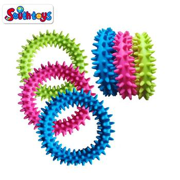 TPR  Flexible Ring and Rubber Spikes Bracelet Fidget Toy soft Spiky Sensory Ring