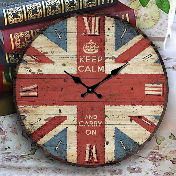 custom Englishness slap-up unique pretty vintage wood wall clocks for gift