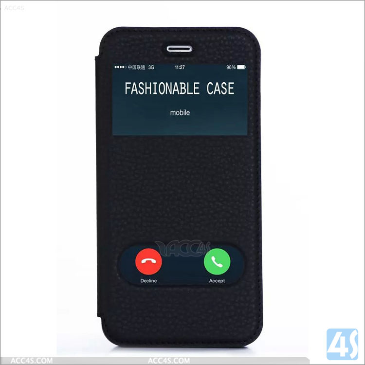 For iPhone 6s plus flip cover with caller ID window