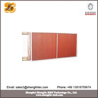 Tube fin condensers for hvac product lines with tubes made of copper