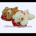 valentine heart plush bear