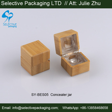 empty lip balm bamboo jar square 5g concealer container