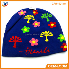 Nice look so cute baby kintted cap for girls boys