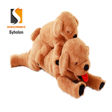 Realistic fancy plush animated fluffy labrador floppy dog soft toy for kids