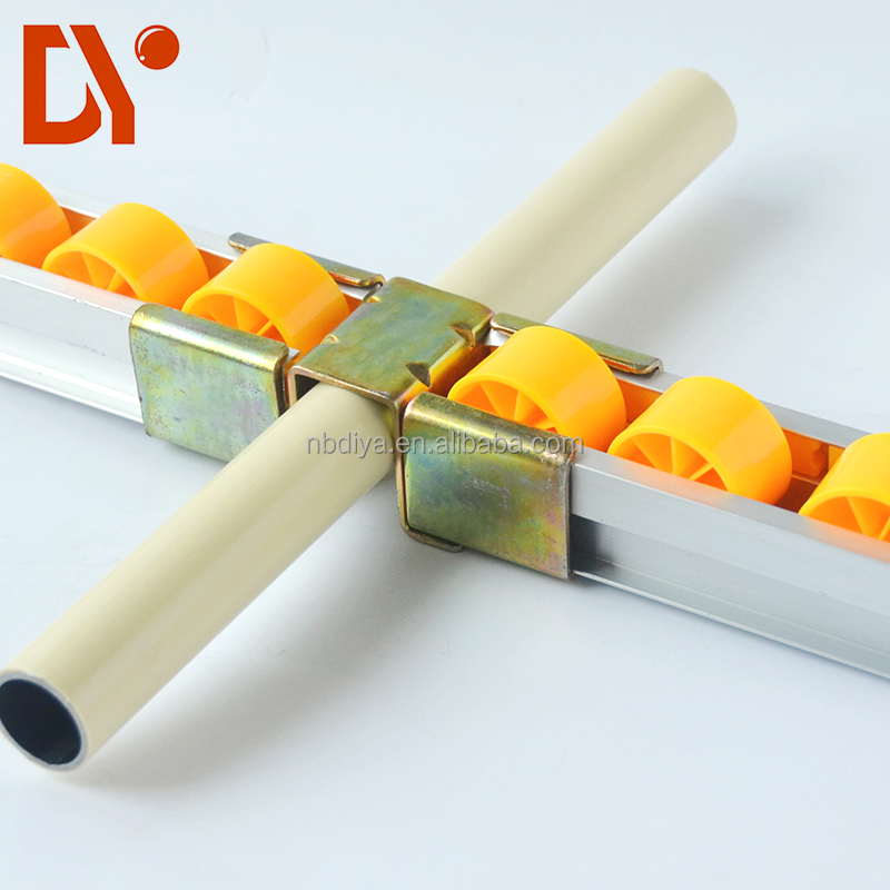 DY26 Galvanized Alloy Sliding <strong>Roller</strong> Track System for Pipe Rack System and FIFO