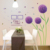 DIY Removable PVC Wallpaper Purple Dandelion Photo Frame Wall Stickers Living Room Mural Decal