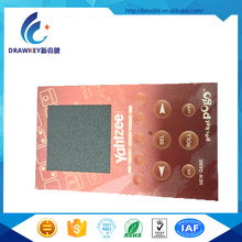 Metal Dome Tactile Membrane Switch panel with 3M adhesive