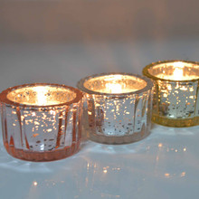 Yufeng Factory Color plating glass star candle holders