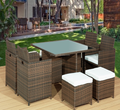 low price high quality outdoor cube 9pcs dining set