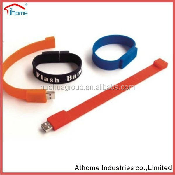 promotional silicone bracelet <strong>usb</strong> ,cheap <strong>usb</strong> silicone bracelet made in china