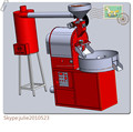 China Best Selling HRHP-5 Coffee Bean Roaster Machine/5kg Coffee Roasting Machine/Gas Heating Coffee Roaster Machine