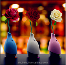blue colour vase shape mini ultrasonic humidifier opening flowers air purifier creative car accessory mini air fresher