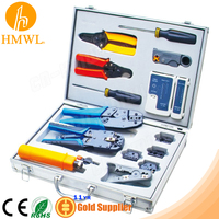 Network Coaxial Tool Kit Set of Crimp Punch Strip Cut Tool Tester