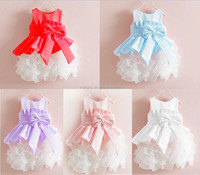 Christmas New style sleeveless 1-6 years old baby girl dress Girls Party dresses with big Bow princess dresses for girls #04