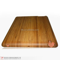 High quality hot selling bamboo protective cell phone case for Ipad 2