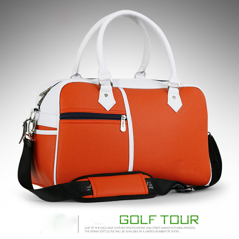 New Design Golf Boston Bag Waterproof PU Golf Boston Bag