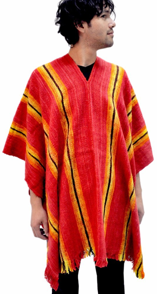 """ANTAWARA"" PONCHO - PURE SHEEP WOOL"