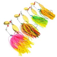4pcs/Lot 17g Pesca Spinner Baits Fly Fishing Lure For Fishing Tackle Isca Artificial Wobbler Spinnerbait Jig Carp Fishing Lures