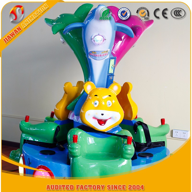 Large supply best selling kids Candy bear kiddie ride games swing plastic