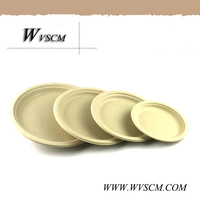 Unbleached Dinner Plate Wheat Straw Paper