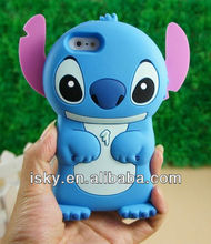 Warehouse Price Pink Disney 3d Stitch Movable Ear Flip Hard Case Cover for Iphone 4/4s