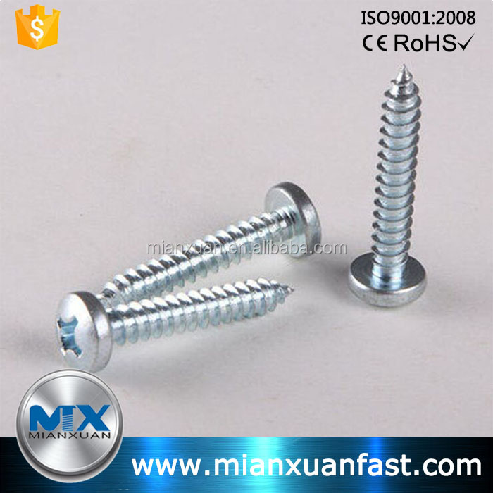 Stainless/carbon/Mild Steel Din 7981 Cross Recessed Pan Head Self Tapping Screws