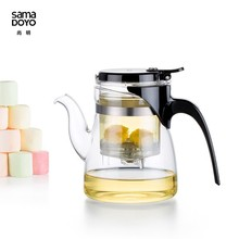 Handblown Clear Glass Tea Pots/Teapots with Unbreakable Infuser Factory Supplies