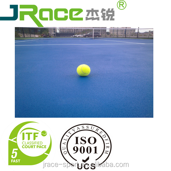 Synthetic silicon PU outdoor tennis court sport flooring