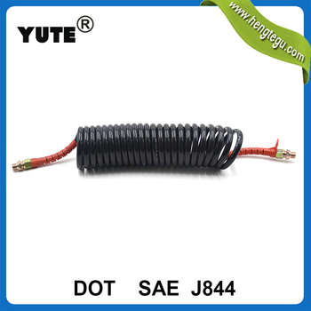 YUTE made SAE J844 nylon coil air brake tubing for truck trailer brake systems