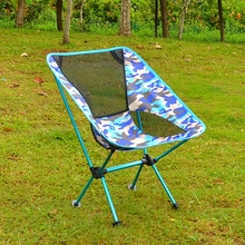 Wholesale 7075 aluminium portable folding camping chair outdoor