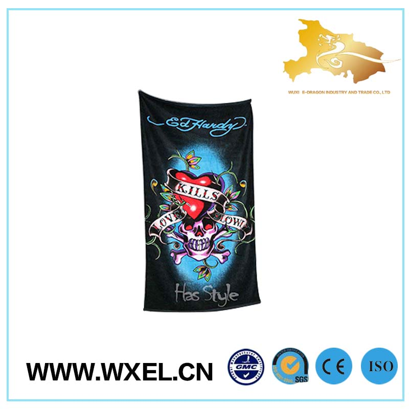 promotional digital printing beach towel with elastic