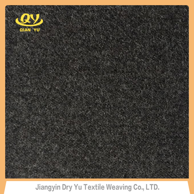 QY-008-1 wholesale OEM wool acrylic polyester knitted blended fleece fabric