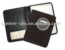 PVC MATERIAL PORTFOLIO WITH CALCULATOR AND NOTEPAD
