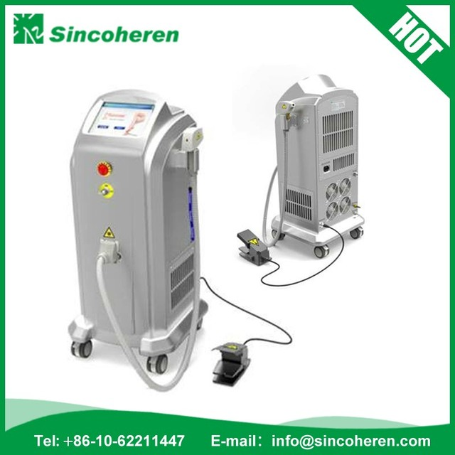 Beijing sincoheren Alexsandrit cosmetic diode laser 808nm laser hair removal machine for sale