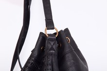 High reputation China leather handbag provide free catalog and leather tassels for handbag