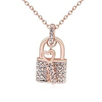 New Heart and key design gold jewelry with Swarovski elements crystal